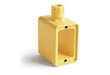 """Woodhead 1301370149 Multiple Outlet Box, Standard Depth, 2-Sided, F2 (1/2"""") Cord Grip Body - Yellow (Old PN 3059)"""